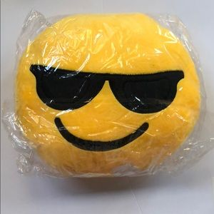 Other - Smiley Emoji Pillow with Sunglasses NEW